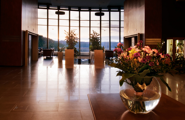 hotel reception area