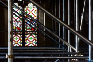 scaffolding and window