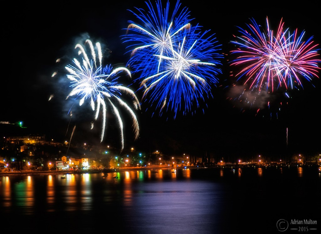 fireworks over Lake Garda