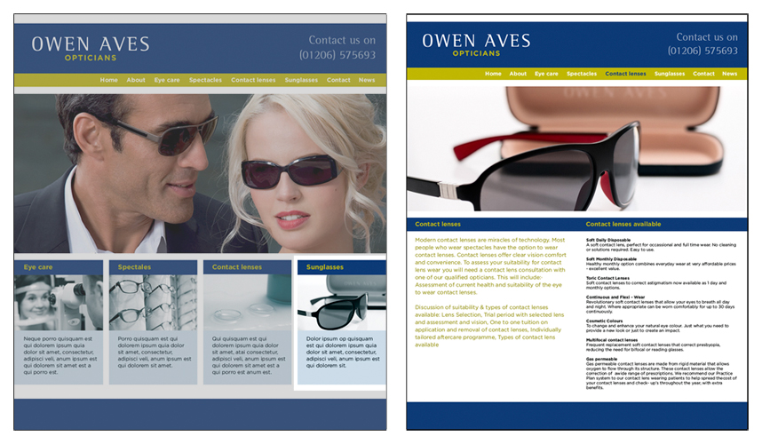 OA Website page design requiring two different crops