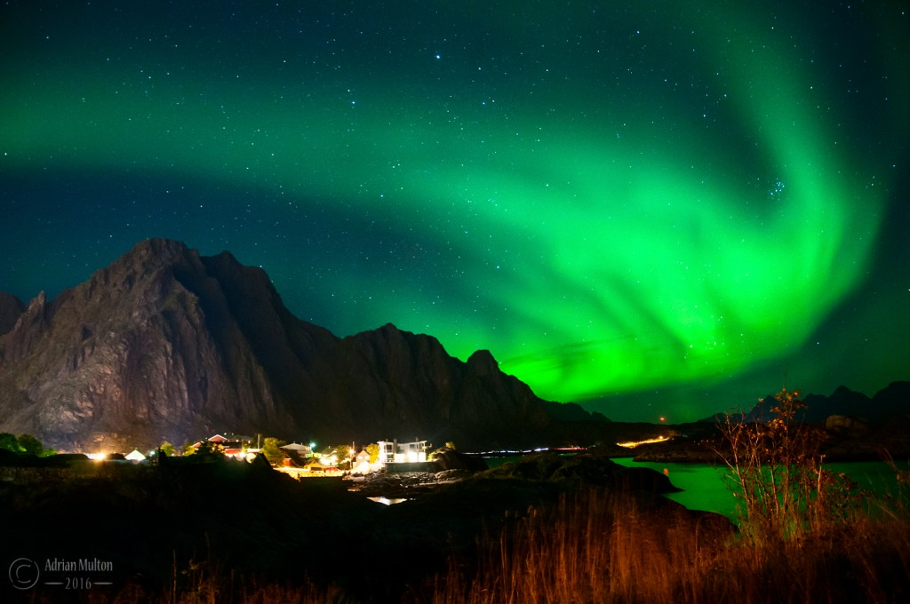 northern lights over svolvaer