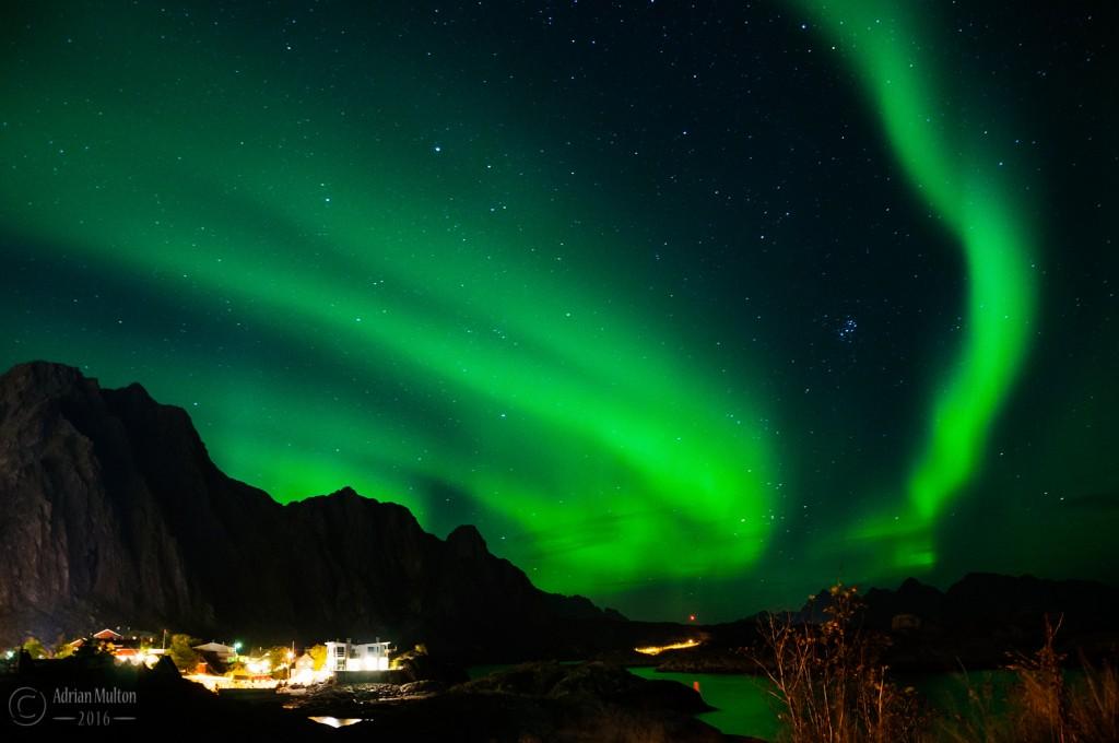 northern lights over svolvaer