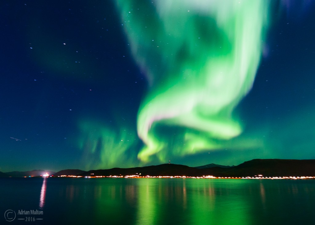 northern lights over tromso