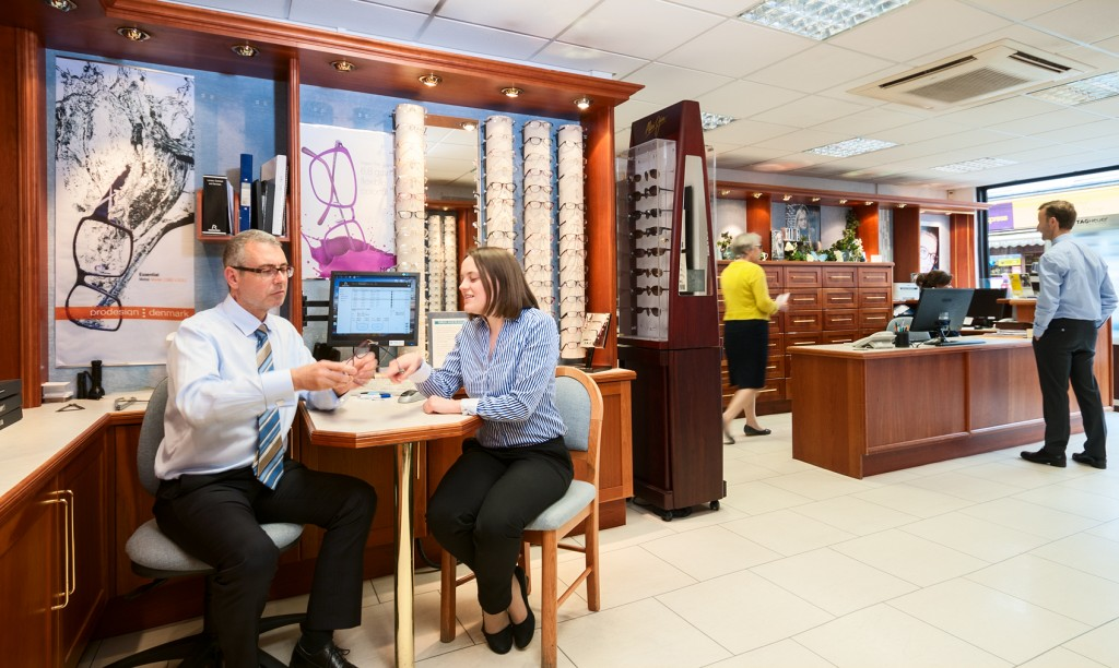 opticians at work