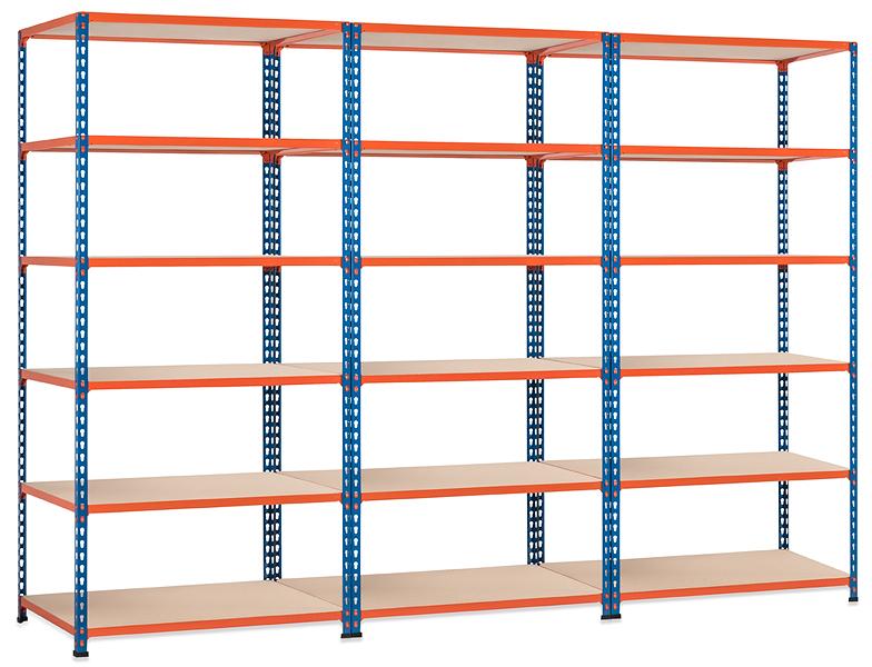 three drop shelf unit