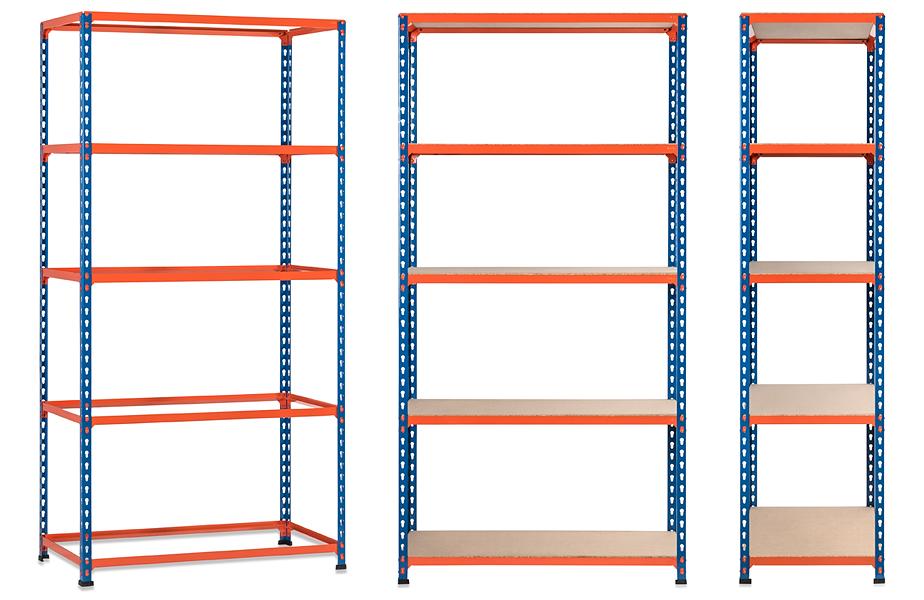 single drop shelf unit
